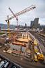 Verticals@Zurich: Cranes (1/2) (jaeschol) Tags: bauarbeiten bauen baustelle cantonuri europa kantonuri kantonzürich kontinent kreis5 schulhaus schweiz stadtzürich suisse switzerland toniareal