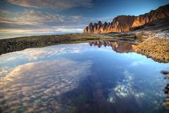 Okshornen Reflected (hapulcu) Tags: arctic norge noruega norvege norvegia norway norwegen okshornen senja troms automne autumn autunno herbst høst toamna