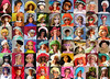 Girls in Hats! montage (skipscales) Tags: barbie francie steffie stacey casey julia christie midge pj fashionqueen jamie repro vintage ooak hats collage montage