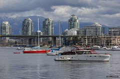Up The Creek (Clayton Perry Photoworks) Tags: vancouver bc canada spring explorebc explorecanada skyline falsecreek boats