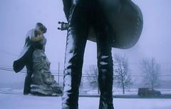 Sculpture Garden 17 (stevensiegel260) Tags: sculpture sculpturegarden statue dancers newjersey snow snowstorm blizzard winter