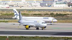 A320 Vueling y A320 Aegean (Dawlad Ast) Tags: barcelona cataluña catalunya españa spain marzo march 2018 aeropuerto internacional international airport el prat ebl avion plane airplane aircraft airbus 320232 ecmjc vueling sn 6841 a320 320 sxdgo aegean 3519