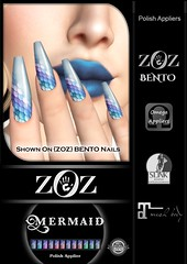 {ZOZ}  Mermaid pix bento L (Zoz icon) Tags: zoz zozicon {zoz} applier mesh meshnails mani manicure pedi pedicure frenchtip french beach ocean starfish slocca original slink maitreya omega vista vistabento mermaid