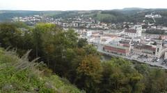 Passau, Altstadt seen from Veste Oberhaus [03.10.2014] (b16aug) Tags: geo:lat=4857780000 geo:lon=1346845278 geotagged bayern deu germany passau stgeorgsberg