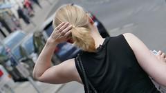 From behind (theflyingtoaster14) Tags: woman frau blonde blond sexy hair haar street strasse vienna wien elegance