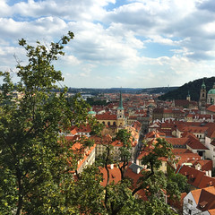 Praguethroughawindow (saracali.gallery) Tags: prague panorama travel rooftops romantic