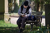 sunk in a book (Sabinche) Tags: sabinche man people human reading graveyard bench canoneos7dmarkii