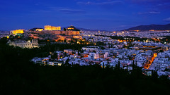 Acropolis of Athens (basic hiking) Tags: athen athens greece griechenland panorama city goldenhour architecture night sonyalpha a5100 ilce5100 selp1650