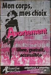 Mon corps, mes choix (emmanuelsaussieraffiches) Tags: affiche politique political poster alternativelibertaire