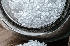 Sea Salt Crystals (sniggie) Tags: macromondays condiment jar saltcrystals macrophotography seasalt macro