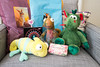 Thank you, Cinzia! (janetsaw) Tags: plush toys jellycat chameleon dragon schaffer nici