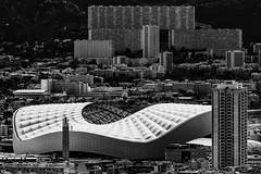 Tristesse et Elegance (Leipzig_trifft_Wien) Tags: skyline building stadium white black monochrome architecture city urban living contrast