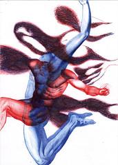 "ballpoint A4, ""The Surfase of Sensations"" (elena khomyakova) Tags: grafic graficart artgallery art arts artcurator artist humanbody fineart"