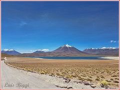 Laguna Miscanti, Chile (Luís Biggi) Tags: lagunamiscanti lagunamiñiques lake reservanacionallosflamencos vicunha vulcán volcano chile deserto atacama andes laguna sky miscantilake cordilleradelosandes andeanmountains
