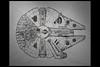 star wars IV - a new hope - milennium falcon concept sketch c 01 1977 johnston j (cinemec utrecht 2017) (Klaas5) Tags: nederland netherlands niederlande cinemecutrecht starwarsidentities exhibition tentoonstelling filmdesign artdirection sketch schets designsketch
