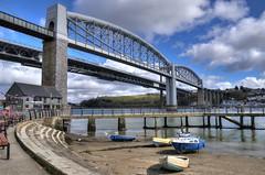 The Tamar bridges at Saltash, Cornwall (Baz Richardson (now away until 26 Oct)) Tags: cornwall saltash rivertamar royalalbertbridge tamarbridges rivers smallboats