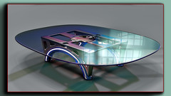 TableD77 (Ke7dbx) Tags: industrialdesign productdesign furnituredesign furniture table conferencetable 3d cgi cg modo glass metal design art arts artistic designer