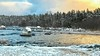 Sunset at frozen Sikhjalma (sussexscorpio) Tags: 2018 february sikhjalma sussexscorpio sweden snow winter clouds sky sunset color colour colours trees water sea europe frozen ice landscape seascape seashore shore wood forest reflection light sun icicles