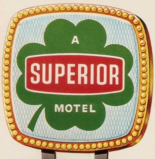 SUPERIOR MOTELS corporate logo, circa 1964