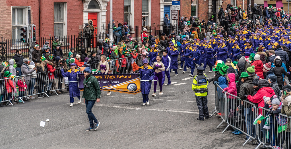 Jackson High School - Purple Army Marching Band [Dublin Patricks Day Parade 2018]-137621