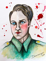 Robbie Turner / James McAvoy (The Deeranger) Tags: robbie turner james mcavoy watercolor art painting portrait atonement blood spatter soldier fan
