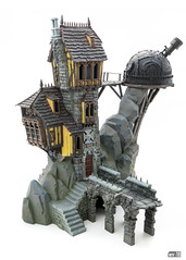 Crooked House: Stonework (Will Vale) Tags: fantasy 28mm warscryercitadel scenery warhammer scalemodel gamesworkshop ageofsigmar malignportents skullvanemanse