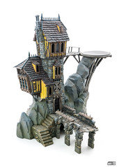 Crooked House: Lower parts (Will Vale) Tags: fantasy 28mm warscryercitadel scenery warhammer scalemodel gamesworkshop ageofsigmar malignportents skullvanemanse