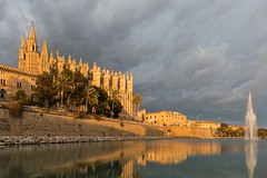 Catedral de Santa María - Goldene Stunde (oliver_hb) Tags: kathedrale palma mallorca goldenestunde