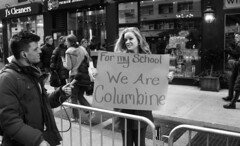 March for Our Lives - NYC (neilsonabeel) Tags: nikonn90s nikon marchforourlives protest march blackandwhite newyorkcity manhattan sign street