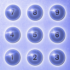 old buttons (MyArtistSoul) Tags: 1987 braun et66 white calculator lessismore modern minimal design 3x3 nine circles matrix pattern numerals 19 texture blue processed flair square {4073