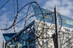 Keep Out! (andythomas390) Tags: wire fence barbed danger birmingham nikon d7000 18200mm cube