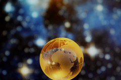 It's a small small world (flowergirlaaa) Tags: globe world earth glass macro circle smileonsaturday roundandround