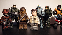 I am not dead ! UPDATE POST (Sir Prime) Tags: halo mater chief fred spartan star wars chewbacca leia daredevil marvel lego mega construx custom moc