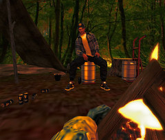 Camping_001 (Stewz Wrench) Tags: camping goodtimes bonfire fire kegs