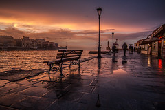 after the rain (dkouroublis) Tags: sunset longexposure nightphotography nightscape creta canon chania greece travel streetphotography
