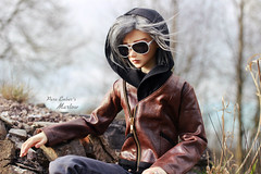 Behind the glass (pure_embers) Tags: pure embers bjd sd 13 doll dolls uk crobidoll yeon ho man boy yeonho pureembers embersmarlow photography laura england photo ball joint resin leather hoodie sunglasses shades