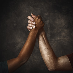 Togetherness (mckenziemedia) Tags: hands arms unity power strength love brown white vignette square