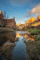 Sunset at Dean Village, Edinburgh (MilesGrayPhotography (AnimalsBeforeHumans)) Tags: 1635 fe1635mm sonyfe1635mmf4zaoss 10stopper architecture auldreekie a7ii britain blending city cityscape dusk deanvillage edinburgh europe evening fe f4 glow golden goldenhour historic historicscotland iconic ilce7m2 landscape lens longexposure le landscapephotography mill nd nd1000 outdoors old oss photography photo portrait tranquil reflections rocks river scotland sky scenic skyline sunset sunlight sunshine sonya7ii sony spring scottish scottishlandscapephotography town twilight tower clocktower uk unitedkingdom village villagearchitecture waterscape wide water waterofleith wideangle zeiss