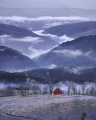Fog in Germany Valley (Valley Imagery) Tags: west virginia germany valley usa cabin red fog mountain sony a99ii tamron 70200