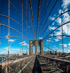 Brooklyn Bridge is all around us (sashdc) Tags: bridge nyc ny usa america brooklyn panorama symmetry city urban lines structure architecture nyclpc landmark new york landmarks preservation commission newyorkcitylandmarkspreservationcommission