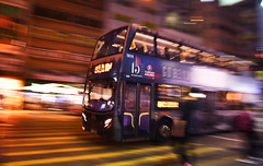 Speed (wilsonphoto_a) Tags: bus pan tamron18200mmf3563diiivc nighttraffic speed doubledeckerbus hongkong kowloon yaumatei d3400