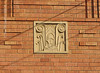 Art Deco/ Art Nouveau panel, block of flats, Killara (detail) (Su_G) Tags: artnouveau artdeco artsandcrafts architecturaldetail built building panel blockofflatskillara killaransw australia builtdetail mouldedpanel cream dirtycream ecru redbrick brickdetailing decorative sug 2018
