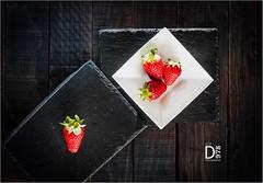 Strawberries - 2018 (davide978) Tags: davide978davidecollidavide collicanonitalyitaly mg3121 strawberries fragole fragola stilllife top viewfromtop canonef50mmf14usm table speedlight flash ff f14 canon ef 50mm usm colours food 2018 octabox godox triggered pocket wizard minitt1 flextt5