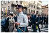 After ceremony, Milan, Italy (Bigmob Dontwannastop) Tags: uniform hat military ceremony zebra man woman street urban milan italy boy