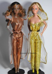 1980 Golden dream Christie and barbie 1980, (Urszula Cz.Nardello) Tags: barbie superstar christie steffie golden dream