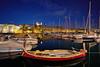 Before Midnight - Romantic Grand Harabour of Valletta, Malta (W_von_S) Tags: grandharbour valletta malta mittelmeer mediterraneansea island insel water wasser hafen schiffe boote boats segelboote licht light shadows schatten reflections reflexionen spiegelung nachtaufnahme nightshot city cityscape stadt stadtlandschaft stadtansicht romantic romantisch sony sonyilce7rm2 wvons werner outdoor winter januar january 2018 yachten häuser buildings bluehour