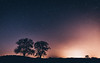 Light Pollution (Christophe Rusak) Tags: light lightpollution city urban tree silhouette stars sky night blue orange alsace france coucherdesoleil ciel nuage nature soleil paysage soir leverdusoleil lumière bleu rouge crépuscule nuit arbre foncé orage météo forêt grain