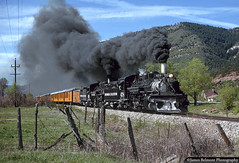 Dream Doubleheader (jamesbelmont) Tags: narrowgauge durangosilverton colorado k28 tourist doubleheader steam coal durango animasriver silverton