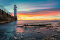 Newhaven at sunset (MilesGrayPhotography (AnimalsBeforeHumans)) Tags: 1635 fe1635mm sonyfe1635mmf4zaoss architecture auldreekie a7ii britain blending beach city dusk edinburgh europe evening fe f4 firthofforth glow golden goldenhour historic harbour iconic ilce7m2 landscape lens longexposure leith le landscapephotography lighthouse nd newhaven newhavenharbour newhavenlighthouse outdoors oss ocean photography photo tranquil reflections scotland sky scenic skyline sunset sunlight sonya7ii sony sonyflickraward spring scottish scottishlandscapephotography sea seascape town twilight uk unitedkingdom village waterscape wide zeiss