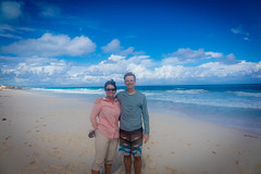 Amanda and Andrew enjoying the soft beach walks